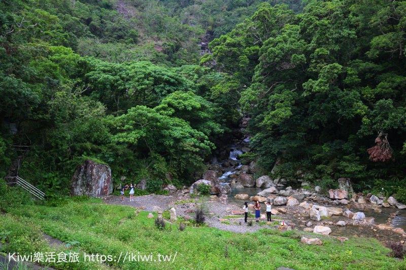 宜蘭景點|礁溪玩野溪推薦猴洞坑瀑布 溪邊玩水景點