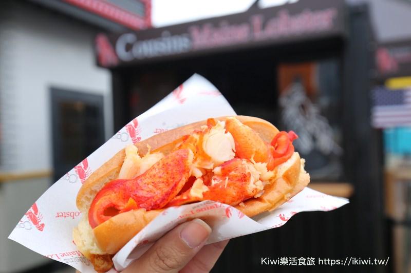 台中美食|Cousins Maine Lobster空運來台龍蝦堡,吃過再也無法回頭(UNO市集美食)