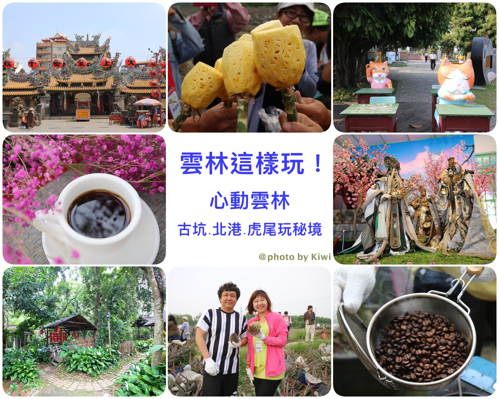 雲林這樣玩 心動雲林古坑北港在地小旅行兩日遊 走訪咖啡原鄉/咖啡布染/大口嗑整顆鳳梨,農村文化體驗一次玩足
