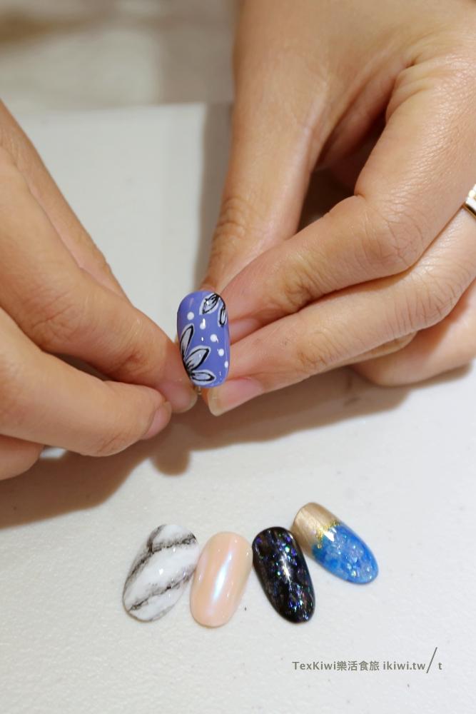 暈染花卉彩繪美甲課程作品-台中美甲課程推薦