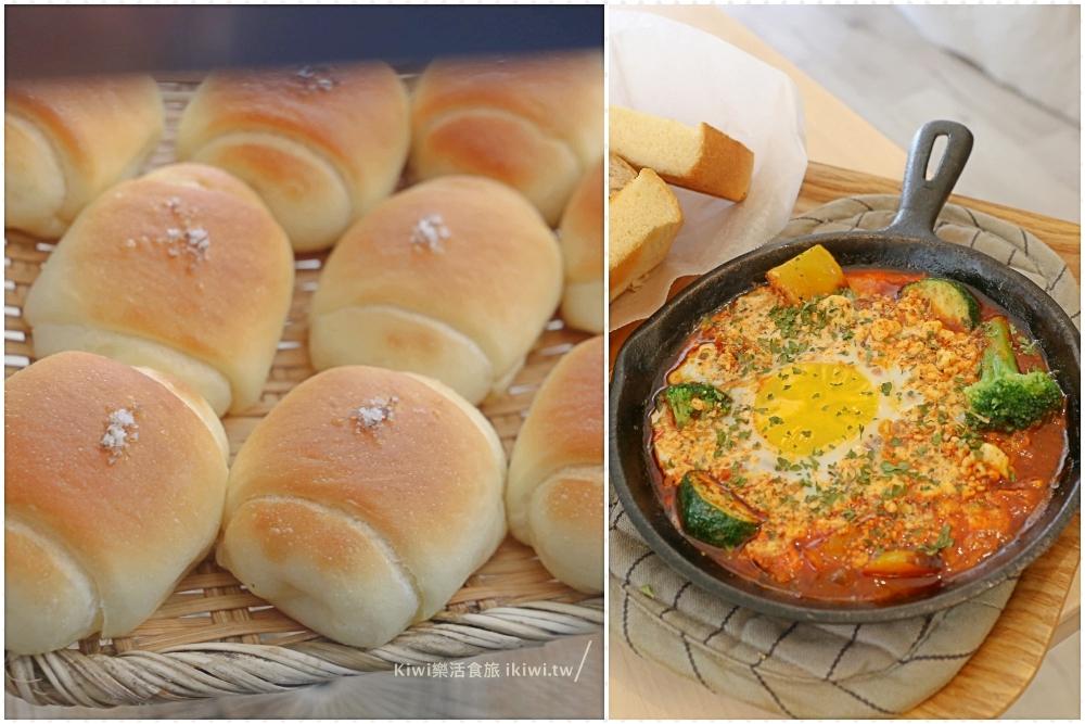 彰化市美食|明明bakery麵包吐司肉桂捲烘焙推薦、火花義大利麵烤蛋自家手作料理都很實在