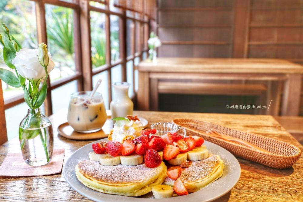 嘉義Morikoohii森咖啡|東區檜意森活村網美咖啡館日本小京都老宅風,草莓煎鬆餅、白冰鑽下午茶點心