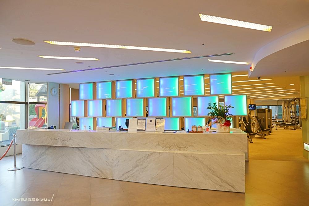 台南香格里拉遠東國際大飯店房客免費使用的地方,健身房、三溫暖、愛心泳池、兒童戲水池區、溜滑梯