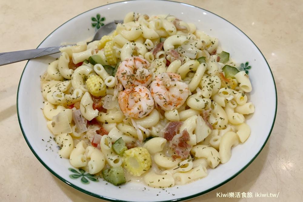 奶油白醬鮮蝦義大利麵|夏天清爽版料理在家輕鬆煮,零失敗簡單上手食譜!