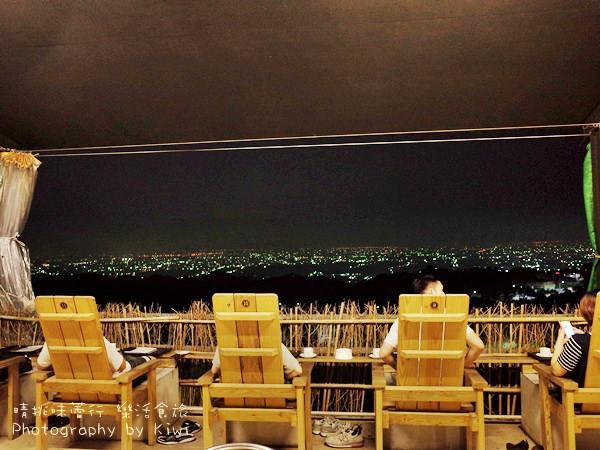 花壇景點推薦|山中居景觀餐廳泡腳賞八卦山最高點夜景 彰化泡腳小秘境,可用餐
