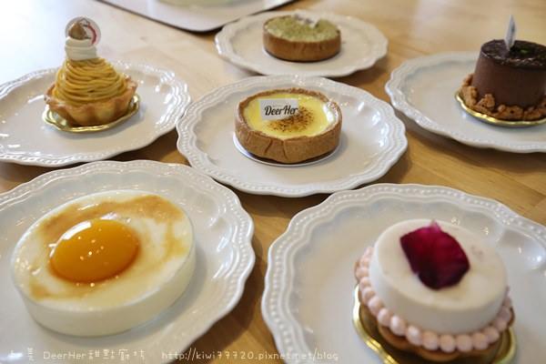 彰化和美甜點美食|DeerHer甜點廚坊讓人走進甜蜜的粉紅國度,限定款是會被誤認為爆漿半熟蛋黃的,一定要來品嚐啊!