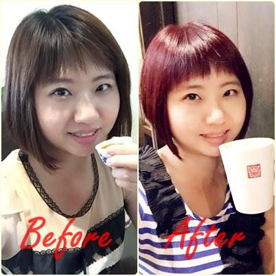 【台中染髮-西屯】VS. hair salon紅髮女孩初體驗!俏麗小小鮑伯短髮(台中髮型設計/台中美髮推薦/逢甲染髮推薦)